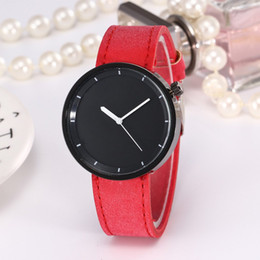 women fashionable wrist watches 2019 - Fashionable Women Watches Solid Color Round Dial Business Quartz Wristwatch Casual Leather Strap Wrist Watches New cheap