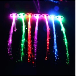 $enCountryForm.capitalKeyWord Australia - 50pcs lot Luminous Light Up LED Hair Extension Flash Braid Party girl Hair Glow by fiber optic For party christmas Night Lights