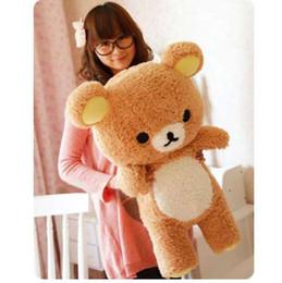$enCountryForm.capitalKeyWord NZ - Christmas Gift San-x Rilakkuma Relax Bear Cute 55cm Soft Pillow Plush Toy Doll