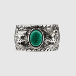 Vintage resin rose online shopping - Men s and women s High quality sterling silverJapanese Korean fashion brand ring silver lovers men British style Vintage old ring ring