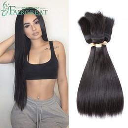 Hair weave tHreads online shopping - Fairgreat Braid in Bundles Unprocessed Brazilian Virgin Hair Straight Hair Bundles No Glue No Thread Braid in Virgin Human Hair Extensions