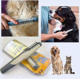 Cut Cat Hair Australia - Safely Auto Pet Dog Hair Brush Knot Out Grooming Combs Cuts Scissor Tangle Knot Hair Trimmer Cutter Cleaning Cat Brush