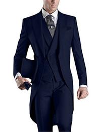 $enCountryForm.capitalKeyWord UK - 2018 Long Tailor Made Men Suit 4 Colors Tuxedos Masculino (Jacket+Pants+Vest+Tie) Custom Made Summer Slim Fit Morning Man Suit