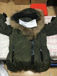 Ruffled Down Parkas Canada - DHL Winter Women's Down & Parkas Mack age Brand Wolf Fur Jackets Zippers Designer Jacket Women ADALI-F4 JACKET Warm Outerwear & Coats