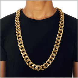 wedding thick gold chain Australia - Hip-hop Style 20mm Thick 90cm Long Rope Twisted Chain 18K Gold Plated Twisted Heavy Necklace For Mens