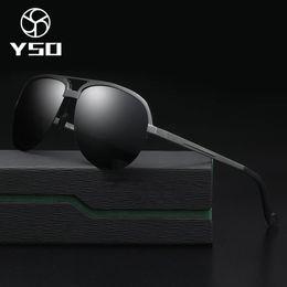 24a475142f7 YSO Sunglasses Men Polarized UV400 Aluminium Magnesium Frame TAC Lens Sun Glasses  Driving Glasses Pilot Accessory For Men 8579