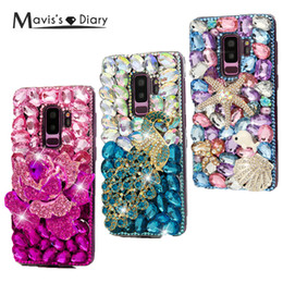 Iphone Diamond Back Australia - Luxury Bling Rhinestone Crystal Rhinestone PC Back Cover Diamond Case For iPhone 6 6S 7 Plus For Samsung Galaxy S8 S9 Plus