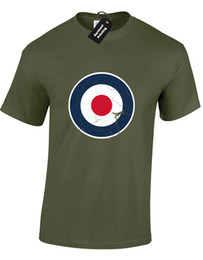 $enCountryForm.capitalKeyWord NZ - RAF DISTRESSED LOGO MENS T-SHIRT COOL FASHION ARMY DESIGN MEME RETRO (COLOUR)