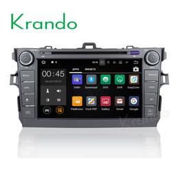 "$enCountryForm.capitalKeyWord NZ - Krando Android 8.0 8"" 2 din car dvd radio gps for toyota corolla 2006-2011 dvd player navigation multimedia system WIFI 3G BT DAB+"