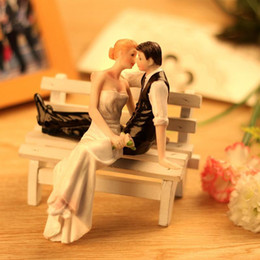 wedding groom figures Australia - New Cute Romantic Funny Wedding Cake Topper Figure Bride & Groom Couple Bridal Decoration Not Include Bench