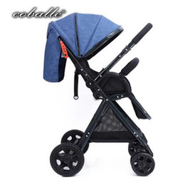 portable umbrella strollers UK - Coballe baby stroller light car folding umbrella can sit can lie ultra-lightweight Portable On the airplane