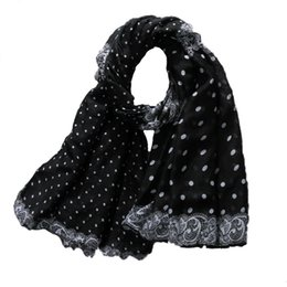 3d7cfc38a Dotted Scarves NZ - Hot Sale Big Size Little Dot Print Scarf Wholesale  Female Fashion Sunscreen