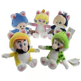 $enCountryForm.capitalKeyWord UK - New 19CM-24CM Super Mario Bros Cat Mario Luigi Toad Peach Rosalina Plush Doll