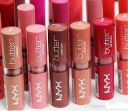 Long Lasting Lip tint online shopping - NYX Butter Lipstick Colors Batom Mate Waterproof Long lasting Lipstick NYX Tint Lip Gloss Stick Brand Makeup Maquillage