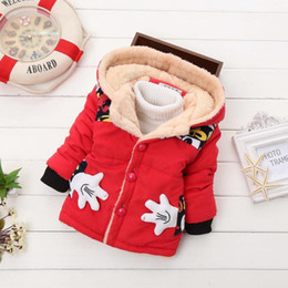 Stock Clothes Winter Australia - In stock,2018 new autumn & winter children mickey hoodies jacket & coat baby boy clothes kids toddle outerwear warm coat, Y18102508