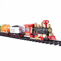 Esc cars online shopping - 2018 Hot Sale RC Train Model Toys Remote Control Conveyance Train Electric Steam Smoke RC Train Sets Model Toy Gift For Children