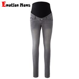 Jeans trousers for pregnant women online shopping - Emotion Moms Womens Maternity Jeans Pants For Pregnant Women Nursing Trousers Pregnancy Overalls Denim Long Prop Belly Legging