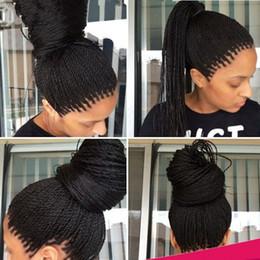 Ingrosso Parrucche nere intrecciate in pizzo nero con parrucchino e parrucche sintetiche