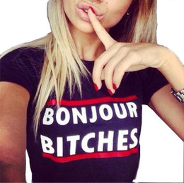 $enCountryForm.capitalKeyWord Australia - Brand Designer-Summer Short Sleeve T Shirt Big Girl Letters Printing Shirt Tops Lady Pullover Cotton Tops Women Clothing Tees Black   White