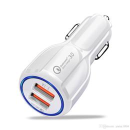 Chargeur USB de voiture 30W Charge rapide 3.0 2.0 Téléphone portable QC3.0 Chargeur Double Port USB Chargeur de voiture rapide pour iPhone Samsung Tablet Chargeur de voiture