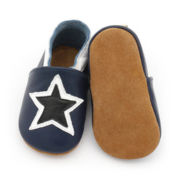 $enCountryForm.capitalKeyWord Australia - 2018 Handmade Genuine Leather New Star style Baby Shoes Baby Moccasins Non-Slip toddler soft sole Baby Shoes first walkers