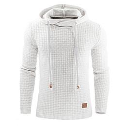 Ingrosso Il miglior design della maglietta rende la camicia a maniche lunghe con cappuccio da uomo mens top a manica lunga x uomini per 1 pezzo / borsa all'ingrosso