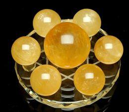 $enCountryForm.capitalKeyWord Canada - Natural yellow crystal seven array stone ornaments Home Furnishing crystal ball crafts creative decorations