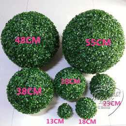 $enCountryForm.capitalKeyWord Australia - Green Grass Ball Plastic Plant Ornament Party Decoration Garden Decor Wedding Decoration Artificial Flowers DIY Ball