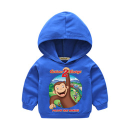 $enCountryForm.capitalKeyWord Australia - Kids Pink Hooded Hoodies Boy Thin Sport Hoody Girls Cartoon Curious George Sweatshirt Clothes Childrne Clothing For Baby LM023