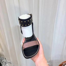 1da2223d9 2018 Classical new women s double buckle sandals explosion models fashion  large size sandals ladies 35--44