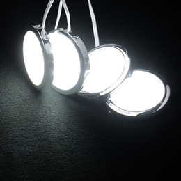 Free Energy Saving Bulbs Australia - 4pcs Round Home Kitchen Led Under Cabinet Counter Lighting 48 LED SMD Energy Saving Kit Lights Lamp Bulb AC 100-240V FREE SHIPPING