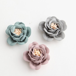 Silver flowerS for hair online shopping - 3cm Mini Hair Flower with stamen For Kids Girls Hair Accessories Artificial Fabric Flowers For Headbands