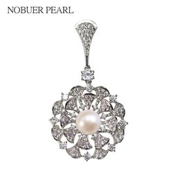 classic style jewelry 2019 - Nobuer DIY Flower Style Natural Freshwater Pearl Brooches Accessories For Women With 11-13mm Pearl To Choose Fashion Jew