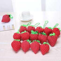 $enCountryForm.capitalKeyWord NZ - Foldable Shopping bags Portable Bag Strawberry supermarket shopping bag Creative design Reusable shopping bags Cute Fruit storage bag SN02