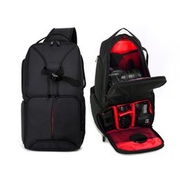 Dslr Cameras Bags Australia - ALLOET Waterproof Multifunction Digital SLR DSLR Camera Video Bag Sling Shoulder Camera Backpack W  Rain Cover For