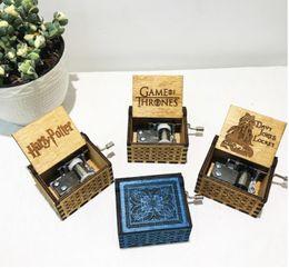 $enCountryForm.capitalKeyWord Australia - Hot Harri Potter Hand Engraved Wooden Music Box Hand Crank Theme Carved Game of Thrones Music Box Christmas gift toys
