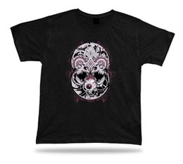 gift tattoos 2019 - Tshirt Birthday Gift Idea Eye Ball Skull Tribal Stylish Symbol Tattoo Tee Shirt discount gift tattoos