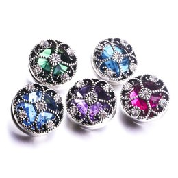 noosa snap earrings 2019 - Noosa Chunks Snap Button Jewelry Rhinestone Clover 18mm Snap Button for DIY 18MM Snap Button Bracelet Earrings Ring chea