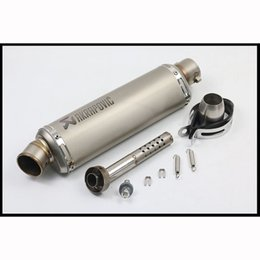 Atv Exhaust Canada - 310mm 370mm 440mm Exhaust Muffler Pipe with DB Killer Silencer System for Motorcycle ATV Bike 38-51mm