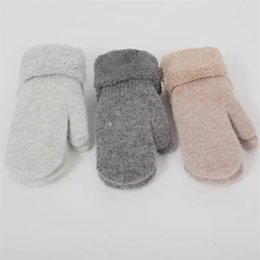 Dark Cycles NZ - Winter gloves women's winter thickening and fleece thermal cycling gloves lovely Korean version of rabbit wool knitted neck gloves men's win