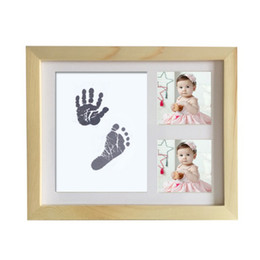 Chinese  DIY cute Photo Frame Newborn Baby Handprint Footprint Touch Ink Pad Baby Growth Memorial photo album Shower Gift decoration manufacturers