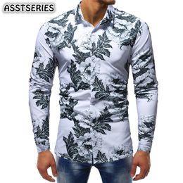 $enCountryForm.capitalKeyWord Canada - Male Shirt Fashion Urban Personality Floral Print Long-sleeve Shirt Flower Color Slim Fit Four Seasons Suitable Camisa Masculina