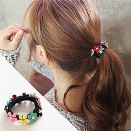 Rabbit Hair Diy Australia - Girl's DIY Hair Style Braider 1PX Rabbit Fur Hair Band Elastic Hair Bobble Pony Tail Holder