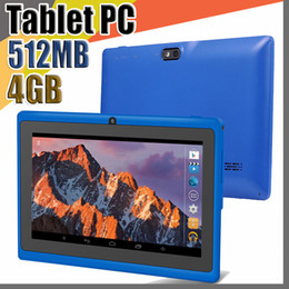 "quad android tablet Australia - 100X Allwinner A33 Quad Core Q88 Tablet PC Dual Camera 7"" 7 inch capacitive screen Android 4.4 512MB 4GB Wifi Google play store flash C-7PB"
