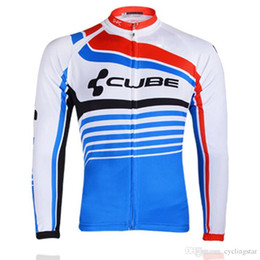 shrink polyester jacket 2019 - New Cube Cycling Clothing Men Tour de france Cycling Jersey long sleeve jacket bike mtb maillot Ropa Ciclismo hombre Bic