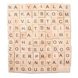 $enCountryForm.capitalKeyWord Australia - 100PCS Crafts Wood letters Wooden Alphabet Tiles Black Letters Numbers for Scrabble Arts and Crafts party gifts
