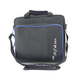 Wholesale PS4 Slim Game Sytem Bag Canvas Case Protect Shoulder Carry Bag Handbag Original size for PlayStation 4 PS4 Pro Console