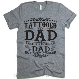 8588f04b Tattooed Dad T-shirt. Gift For Dad. Father's Day Gift. Papa T-shirt. Dad  Shirt. Brand 2018 New T Shirt Man Cotton