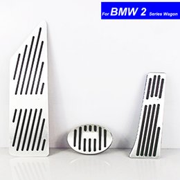 Brake Pedals NZ - Car Aluminium Alloy Petrol Clutch Fuel Brake Braking Pad Foot Pedals Rest Plate for BMW 2 Series Wagon Pedals Auto with M Logo