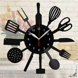 $enCountryForm.capitalKeyWord Australia - Kitchen Vinyl Record Wall Clock Home Decor Fun Gift Art Home Decor Vintage Wall Art The Best Handmade Gifts(12inch Color:Black)